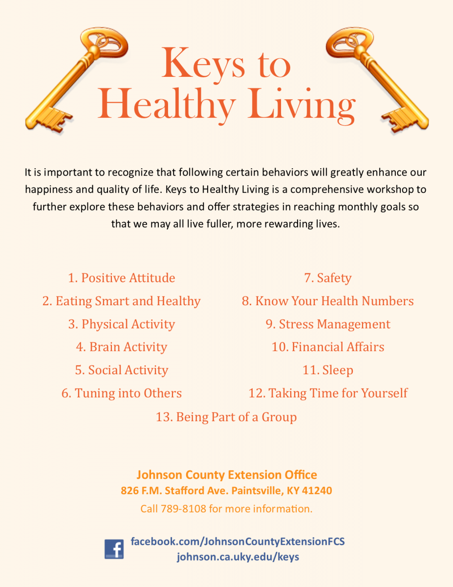Keys to Healthy Living
